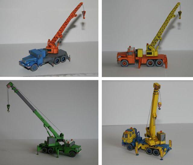 PAPERMAU: Four Tatra Czech Cranes Paper Models In 1/100