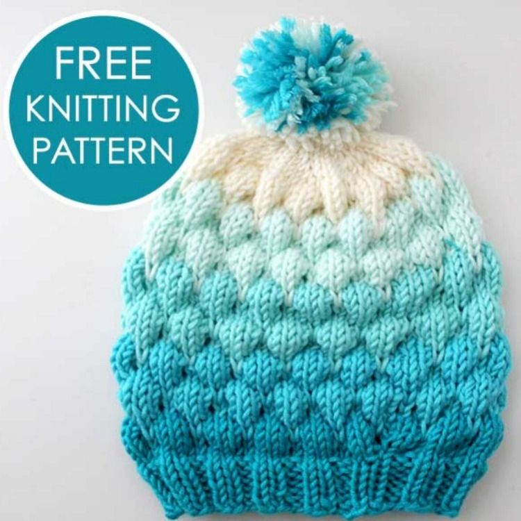 Learn how to Knit this super cute Bubble Stitch Beanie Hat with free  Knitting Pattern and video tutorial by Studio Knit.  StudioKnit  knithat   bubblehat ... 6a14988d23c