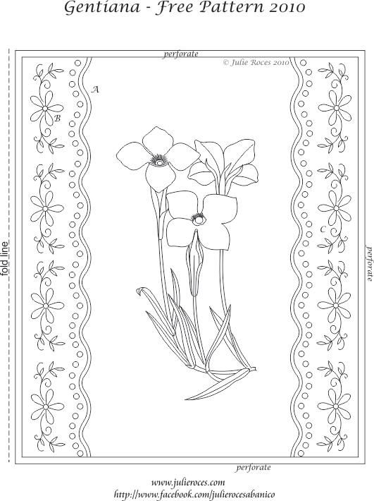 Gentiane pergamano pinterest pergamano papier parchemin et parchemin - Coloriage fleur gentiane ...