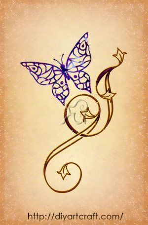 Letter j tattoo butterfly cartella tattoo pinterest for Letter j tattoo