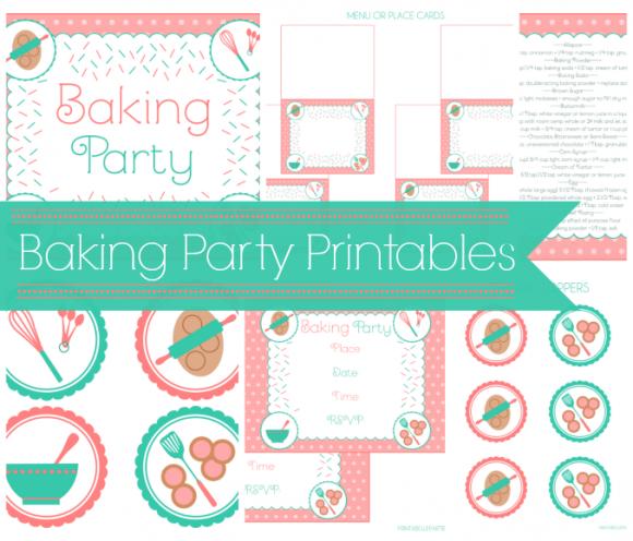 Happy Birthday Banner Cooking Birthday Banner Kitchen Baking Party Birthday Girl Decoration Instant download PRINTABLE DIGITAL DIY 0219
