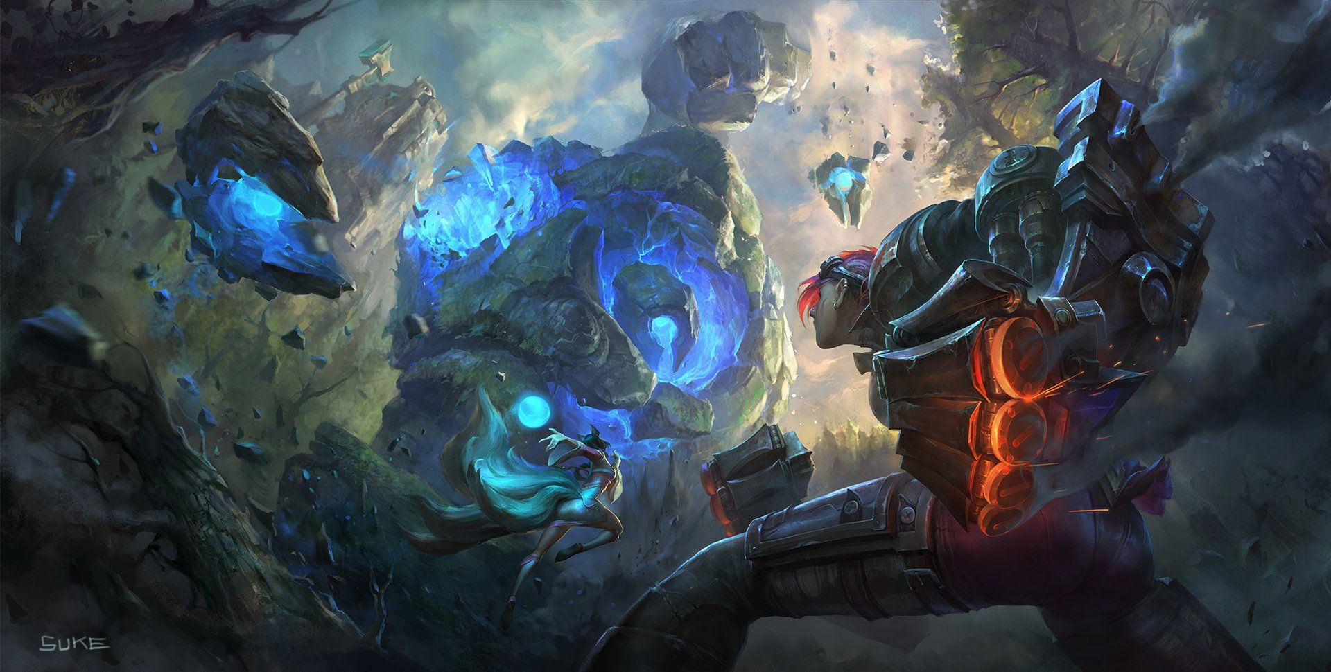 Vi Vs Blue Sentinel League Of Legends Sru Key Art By Suke On