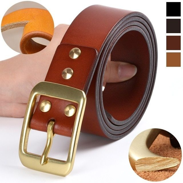 6debe2df756 Genuine Leather  Belts For Men High Quality Top layer of Cowhide Luxury  Waist Belt