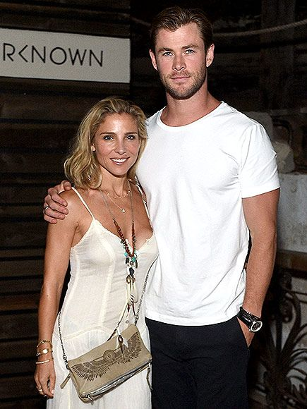 Star Tracks: Monday, August 31, 2015 | GOLDEN COUPLE | Chris Hemsworth and wife Elsa Pataky keep it close at the launch of Outerknown (hosted by Kelly Slater, John Moore and friends) at a home in Malibu, California, on Saturday.