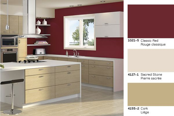 Classic Red for a Contemporary style #kitchen Un rouge classique