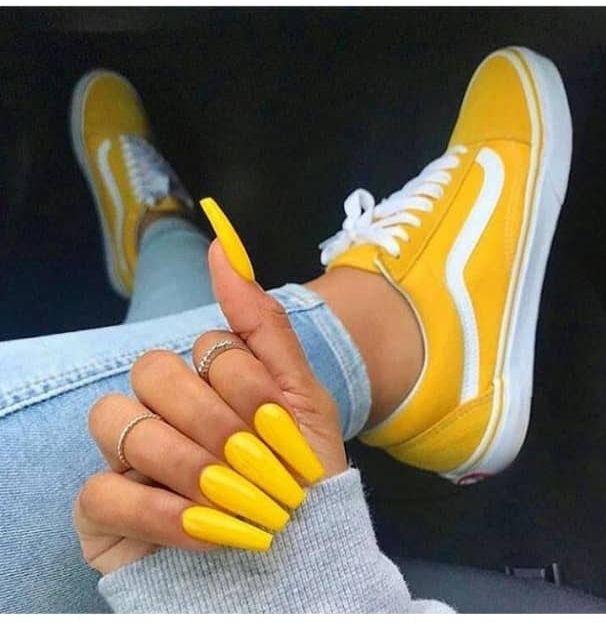 50+ Gorgeous Yellow Nails Design Ideas