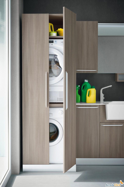 Mobile a colonna per lavatrice e asciugatrice home for Mobile per lavatrice e asciugatrice