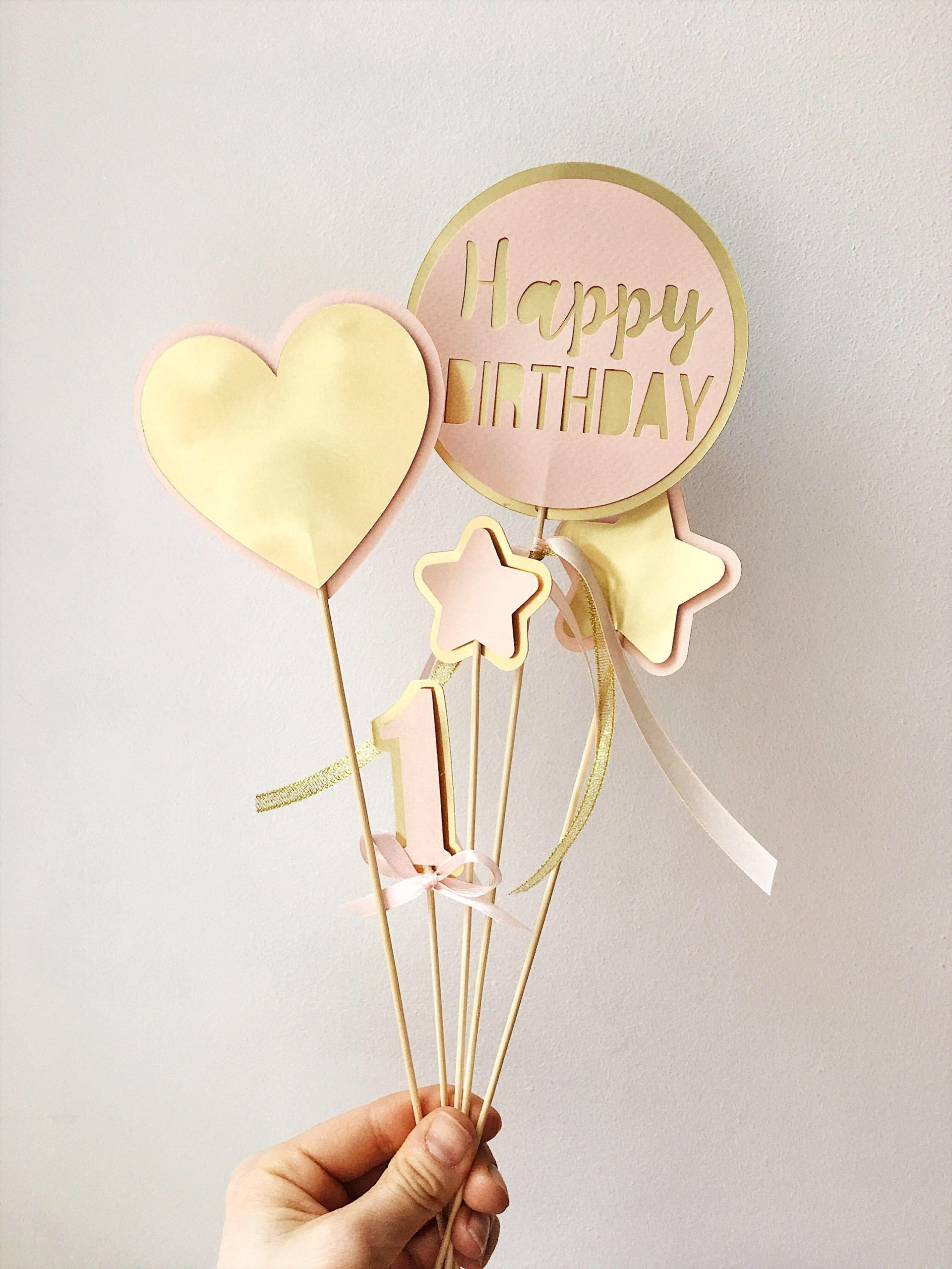 Blush Gold Centerpieces Pink Gold Baby Girl 1st Birthday