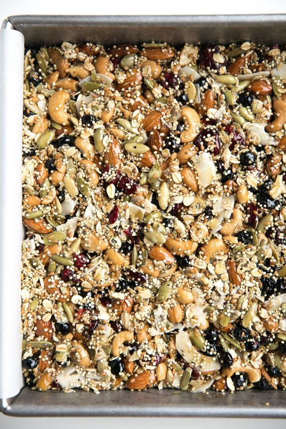 Nutty Superfood Oat Bars - The Forked Spoon