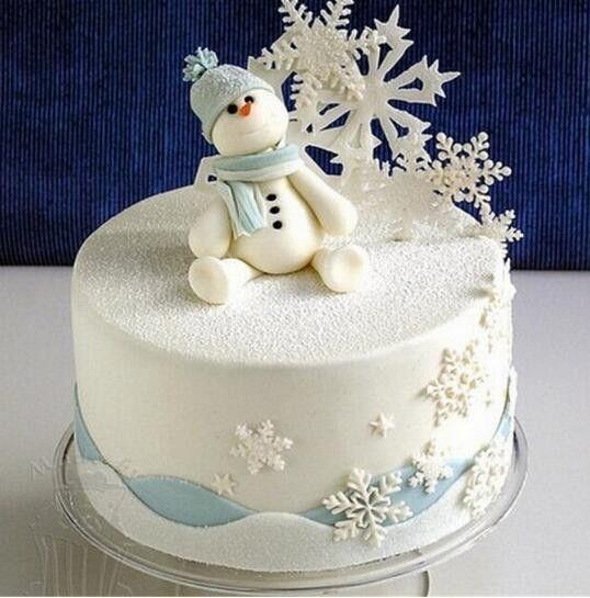 3Pcs/Set Snowflake Fondant Cake Decorating Plunger Sugarcraft Cutter ...