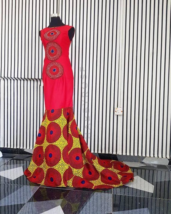 Oni African dress// African dress / African prom dress / African print / formal African dress #africandressstyles