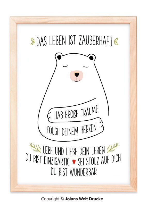 Bear Art Print Poster Gift Deco Picture Family Home