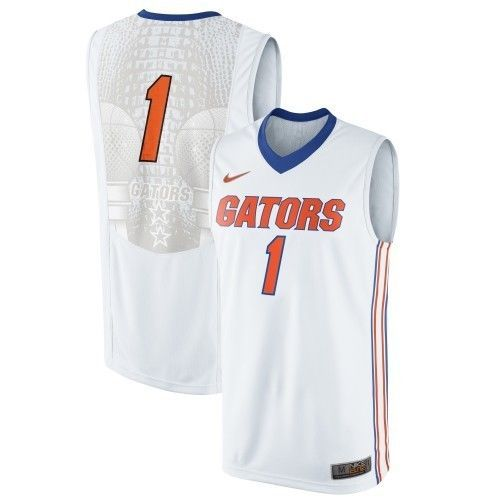 bd039348 University Florida Gators Basketball Jersey Replica Nike White NCAA XL  Apparel