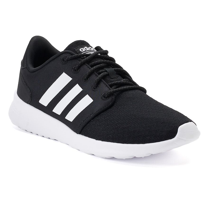 adidas QT Racer Women's Sneakers in 2019 | Black lace shoes