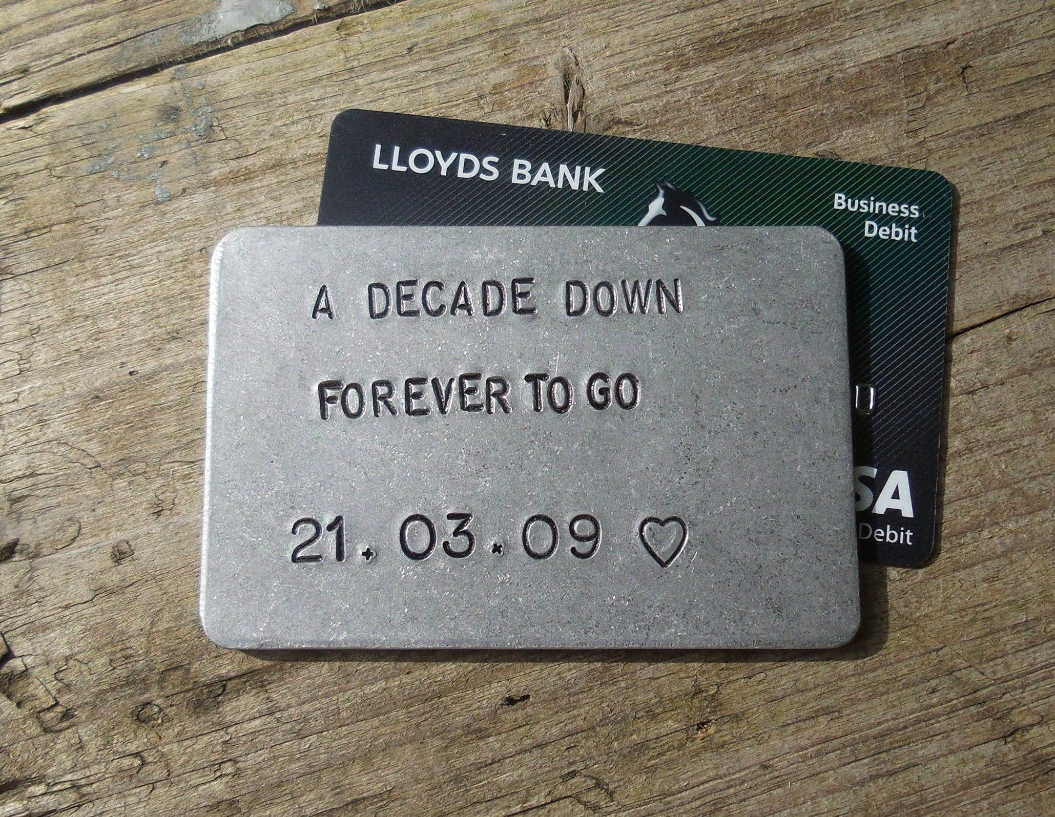A Decade Down Forever To Go Wallet Insert Gifts For Men Women 10th