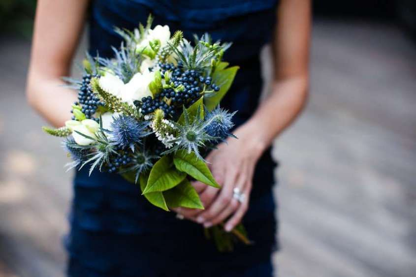 Rustic Natural Blue Flower Bouquets For Wedding Flowers