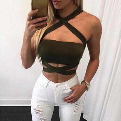 Knitted Bandage Crop Top