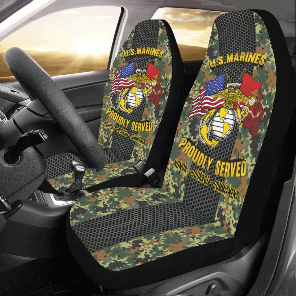 U S Marine Corps Logo Car Seat Covers Set Of 2 Car Seat Cover Sets Car Covers Carseat Cover