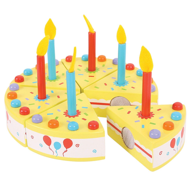 Houten Verjaardagstaart 13dlg Verjaardagstaart