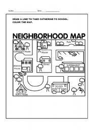 English worksheet neighborhood map fiyaza pinterest english worksheet neighborhood map ibookread ePUb