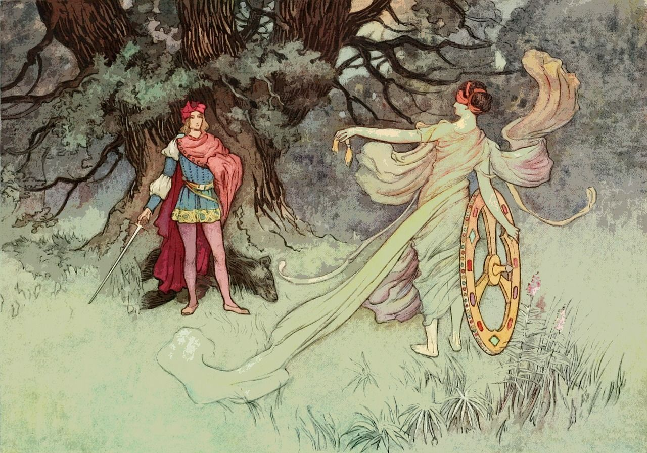 Free Image On Pixabay Vintage Fairy Tale Old Antique Fairy Book Fairytale Art Warwick Goble