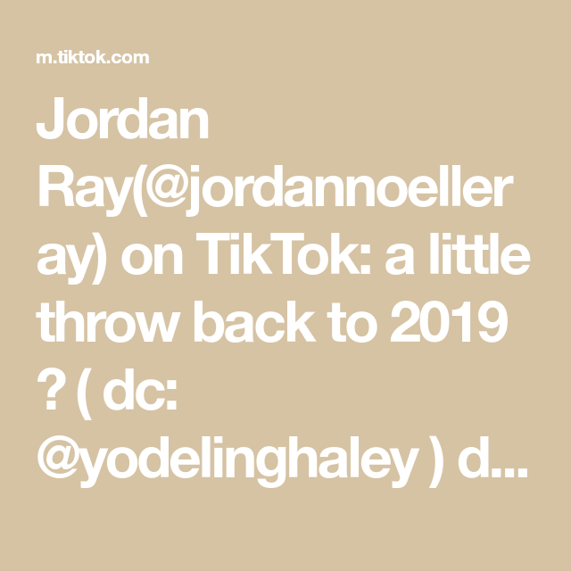 Jordan Ray Jordannoelleray On Tiktok A Little Throw Back To 2019 Dc Yodelinghaley Duet Record In 2x For Slow Mo Ray Throwback Duet