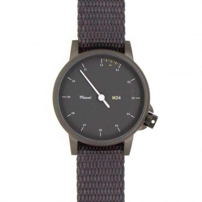 M24 Noir on Nylon Strap, Gray - Watches