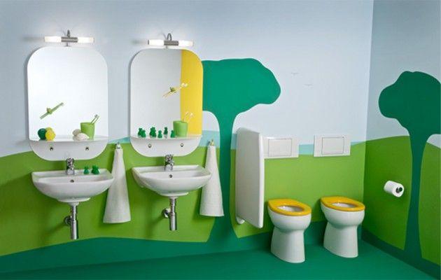 30 Colorful And Fun Kids Bathroom Ideas Kids Bathroom Design Daycare Design Childrens Bathroom