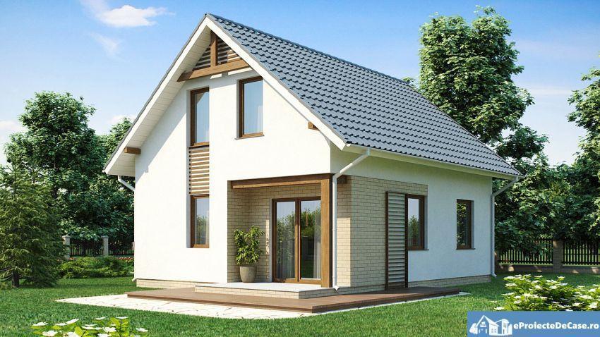 Proiecte De Case Cu Mansarda Sub 100 De Metri Patrati Attic Houses Under  100 Square Meters 2