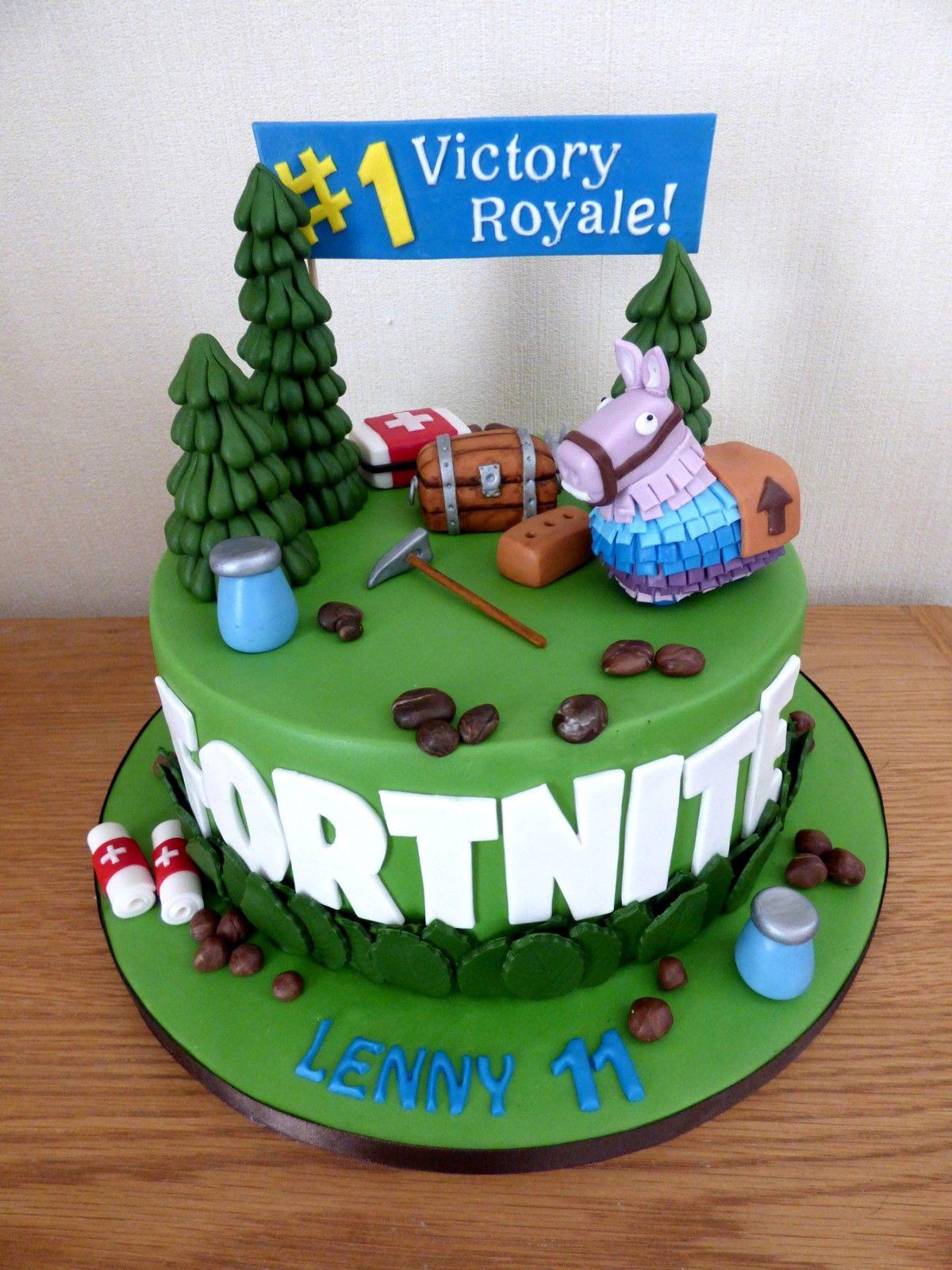 Fortnite Themed Birthday Cake « Susie's Themed
