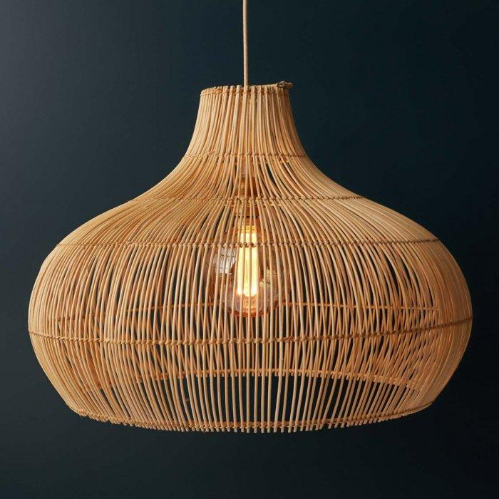 Abat Jour Meringue En Rotin Naturel Luminaires Le Petit Florilege Luminaire En Rotin Idee Luminaire Salon Luminaire Chambre