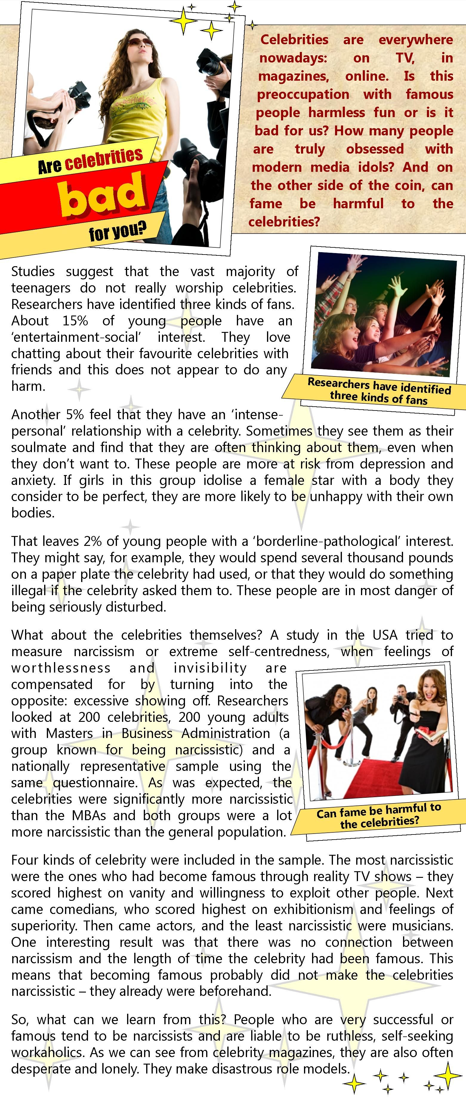 celebrity role models good or bad