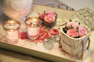 arranjo rústico com rosas