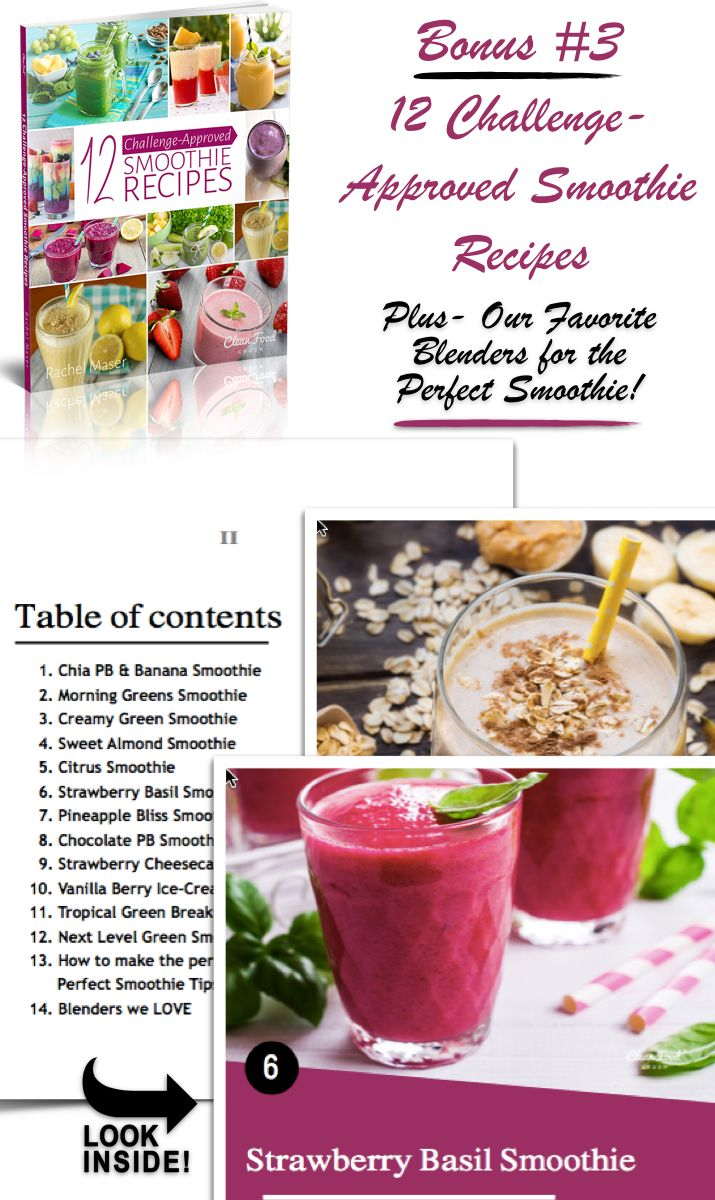 30 Day Clean Eating Challenge BONUS - During the challenge you work directly with Rachel Maser & her team. T… | Clean food crush. Clean eating ...