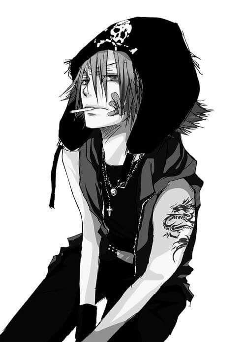 anime manga bad boy. black