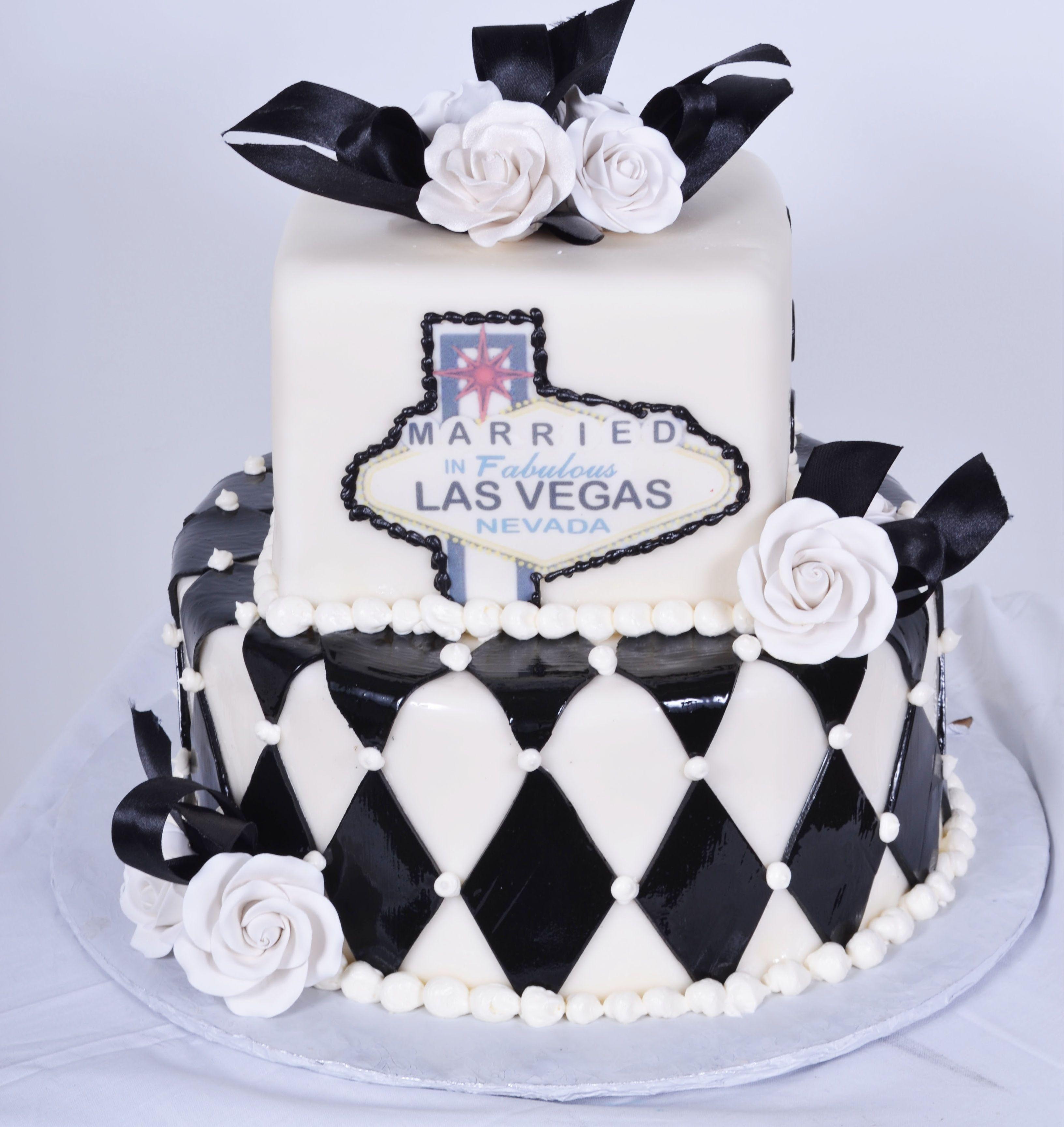 Pastry Palace Las Vegas - Viva Las Vegas - Wedding Cake #703. Black ...