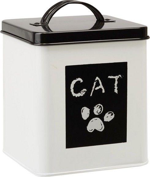 Dekorative Box mit Deckel aus Metall - optimal für Katzensnacks