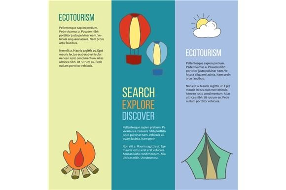 Ecotourism Flyer Poster Vector Ecotourism Flyer Poster Template