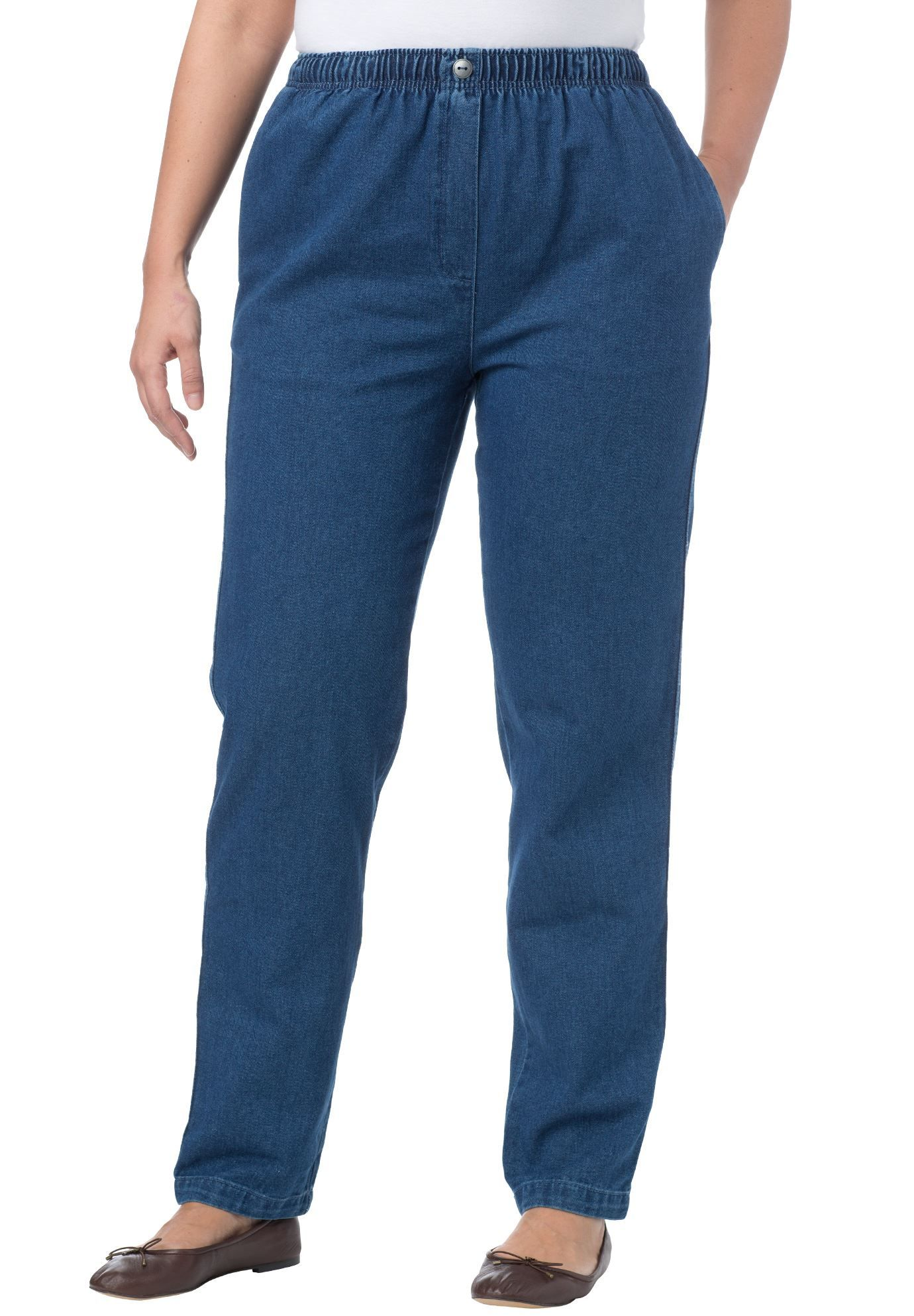 caab2c3e8b8 Cotton Straight Leg Mockfly Jean - Women's Plus Size Clothing | Products