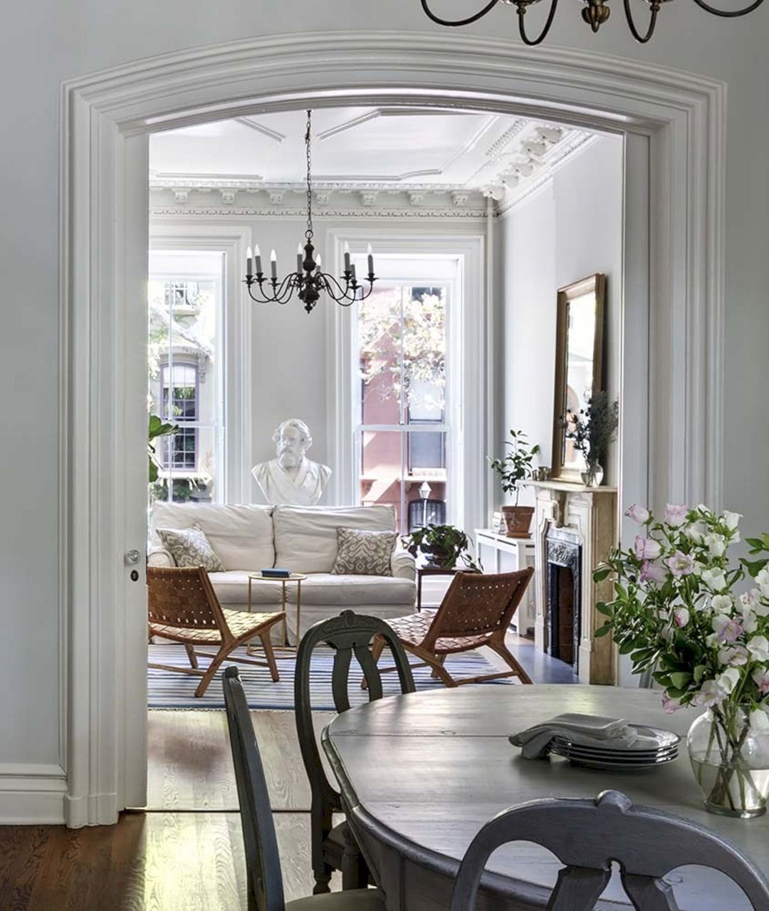 Designing Project For Clermont Street Brownstone Duplex Brownstone Interiors Brownstone Homes House Interior