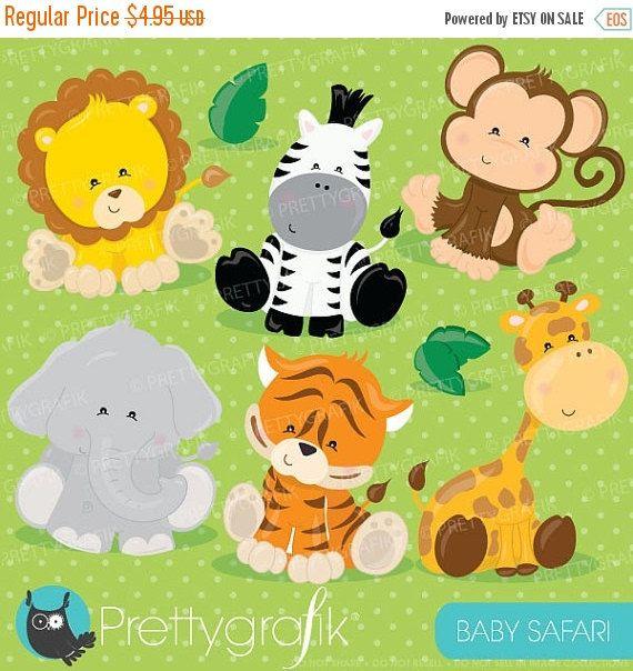 Buy 20 Get 10 Off Baby Safari Animals Clipart Commercial Use Etsy In 2021 Safari Baby Animals Animal Clipart Safari Animals