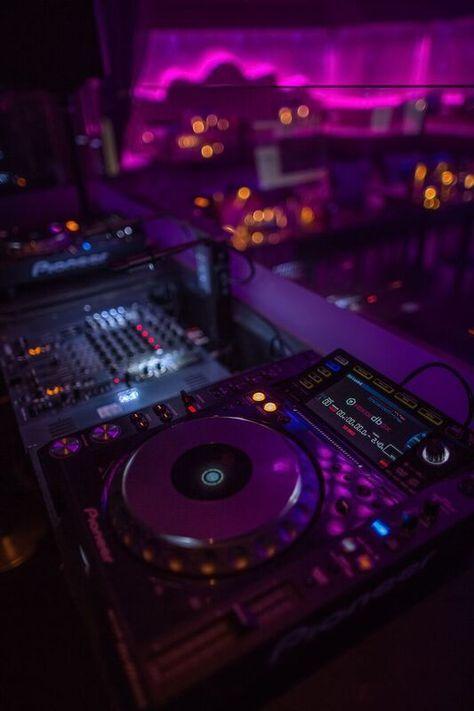 DJ Booth Upstairs in The Cuckoo Club, Mayfair, London