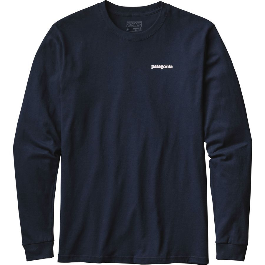 Patagonia P-6 Logo Long-Sleeve T-Shirt - Men's | Patagonia, Navy ...