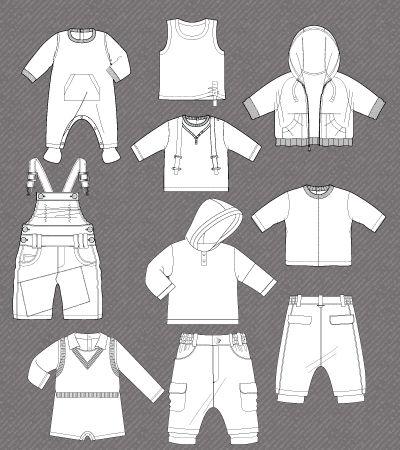 Set of fashion flats for Baby boy | Kidsfashionvector ...
