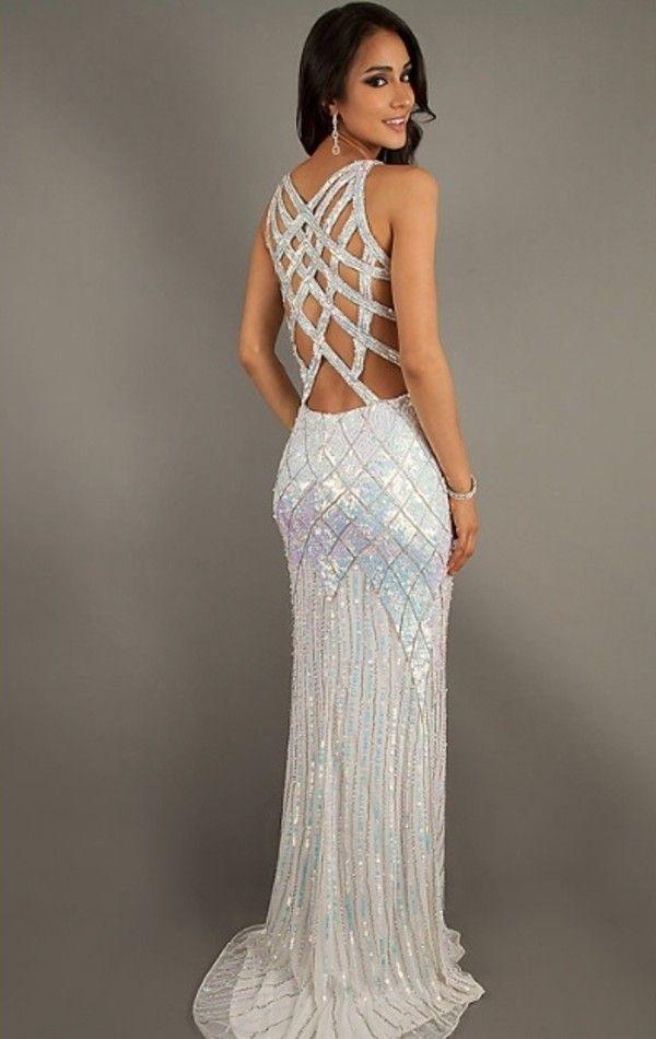 Beautiful Elegant Prom Dress, Cutout back and beautiful shimmers ...