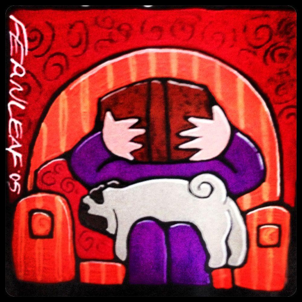 Pug Art by Fernleaf