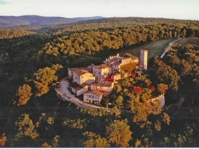 Castelnuovo Berardenga house rental - Aerial view from the West, showing defensive walls