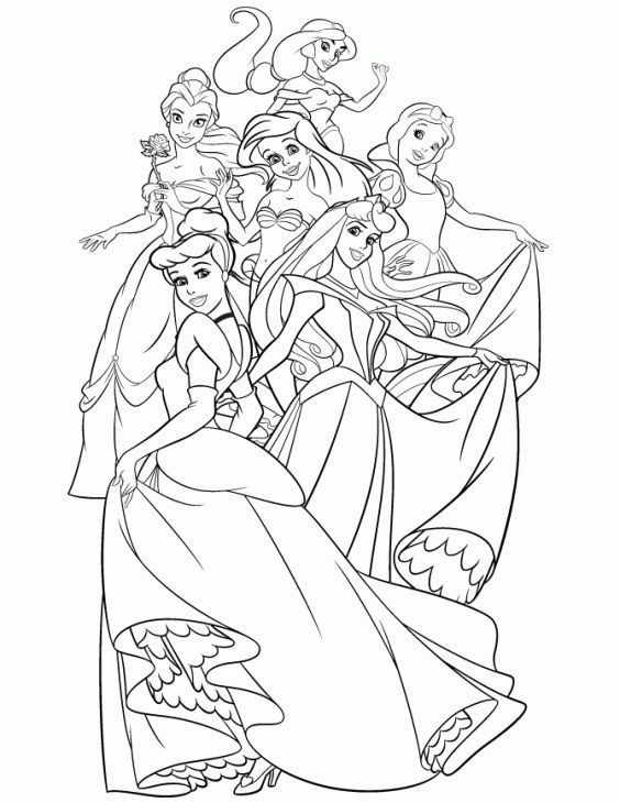 online disney princess coloring pages - photo#39