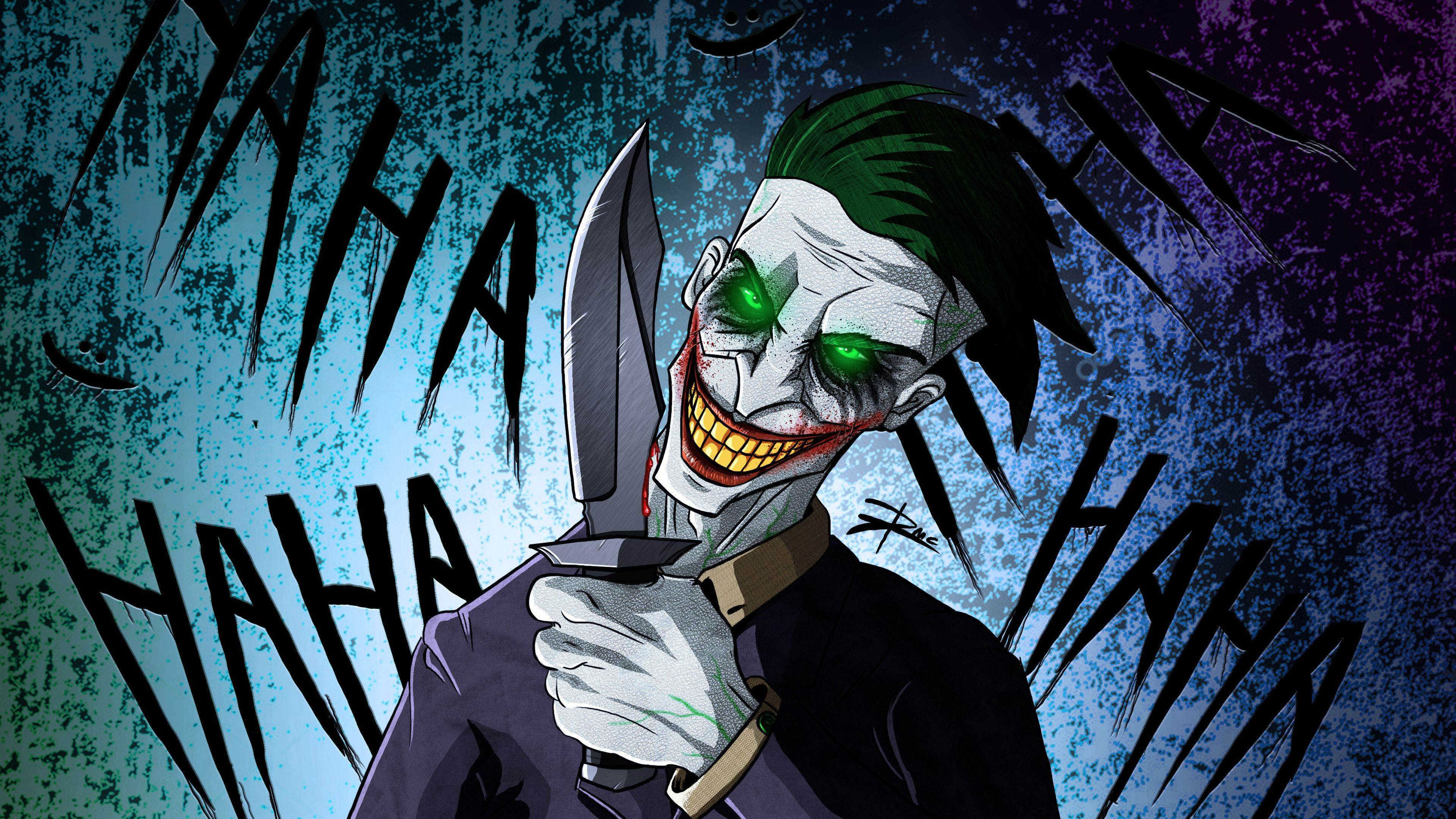 Wallpaper 4k Crazy Joker Art 4k 4k Wallpapers Artist Wallpapers