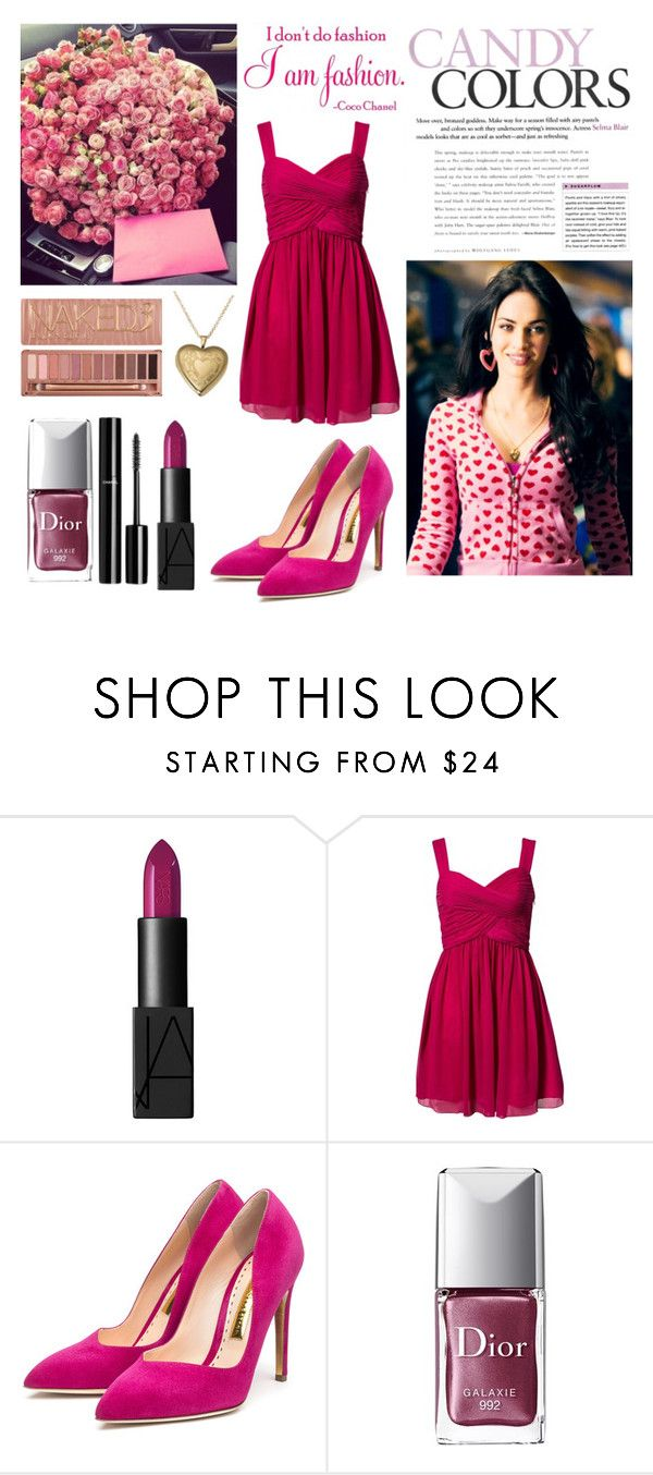 """""""My name Barbie, biitch, my name Barbie, biitch ♥"""" by shanelle-khl ❤ liked on Polyvore featuring beauty, NARS Cosmetics, Oneness, Rupert Sanderson, Chanel, Christian Dior and Urban Decay"""